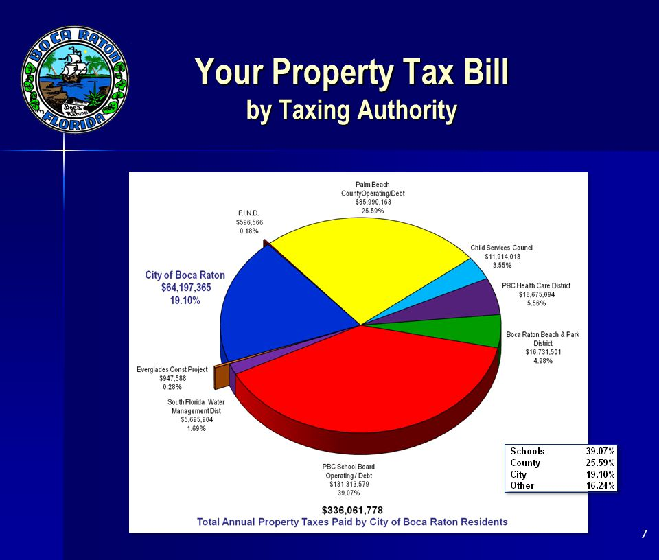 Your Property Tax Bill by Taxing Authority 7