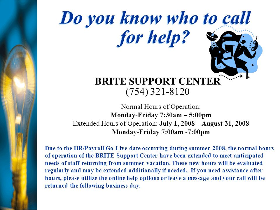 Do you know who to call for help.
