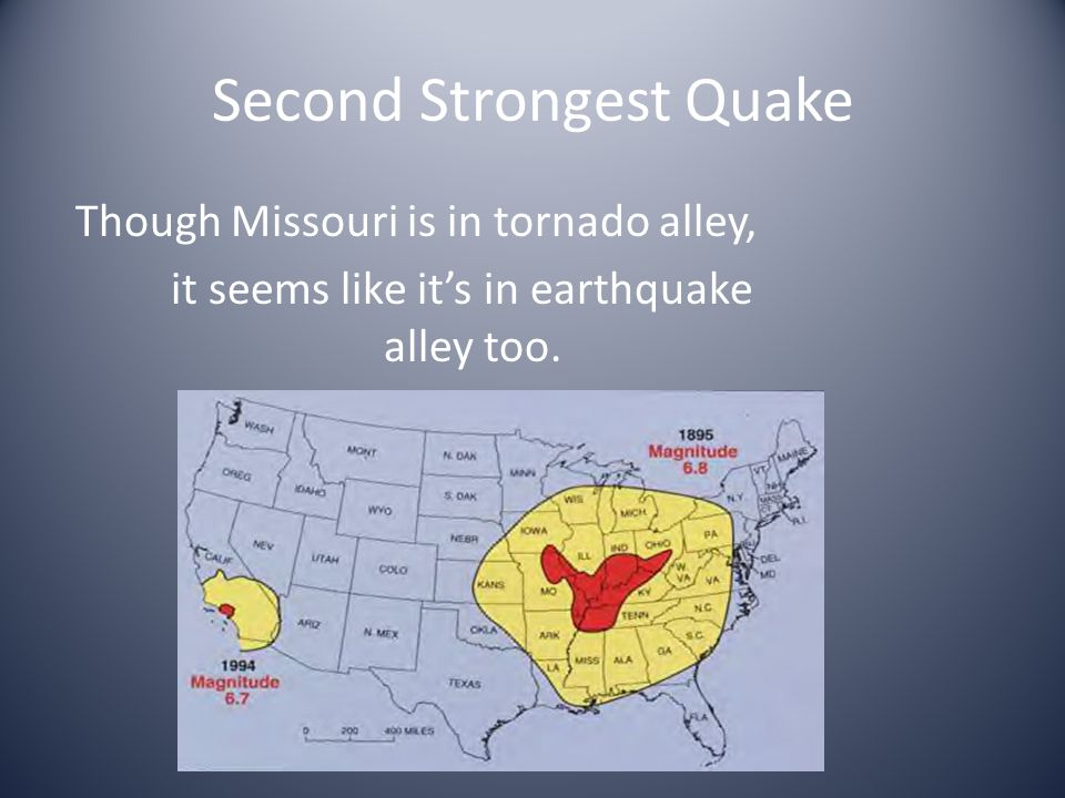 Though Missouri is in tornado alley, it seems like it's in earthquake alley too.