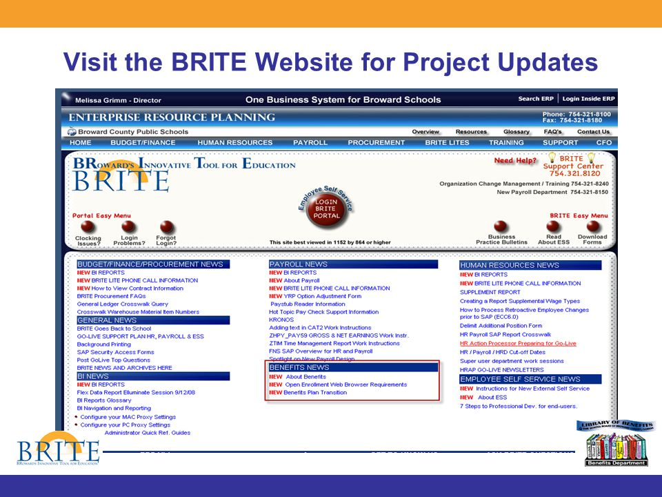Visit the BRITE Website for Project Updates