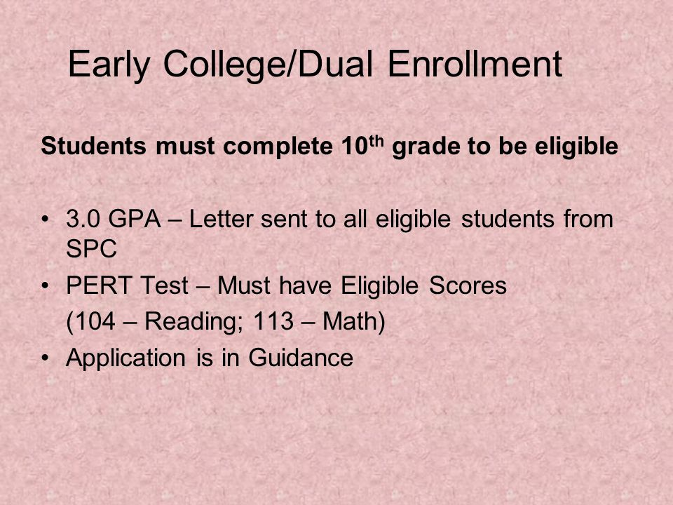 Testing The Class of 2015 is responsible for the following exams for graduation….