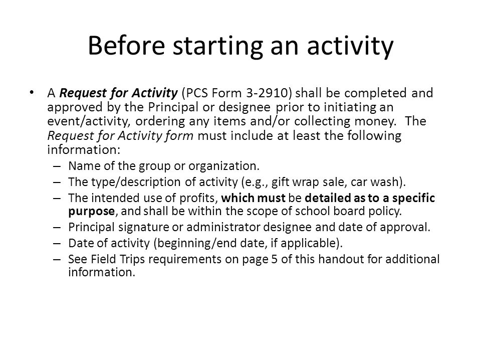 Collection of funds Money collected by/handled by a school board employee during normal working hours, from activities of any sort, must be deposited into the internal account funds.