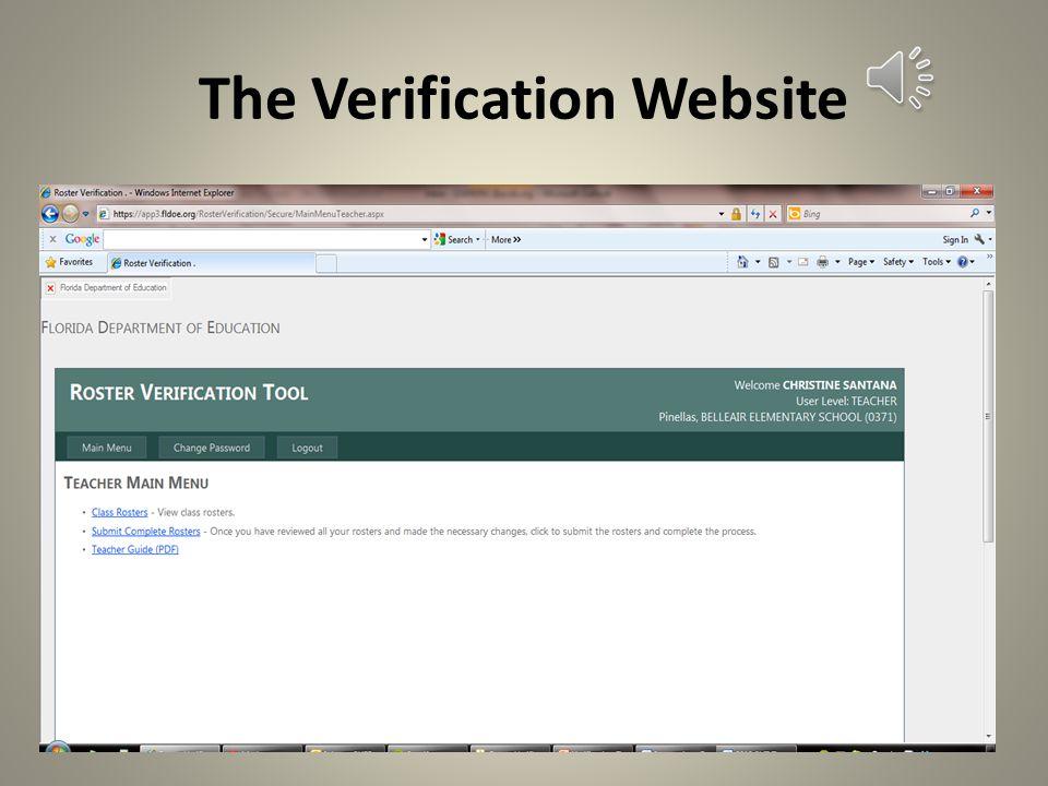 The Verification Website