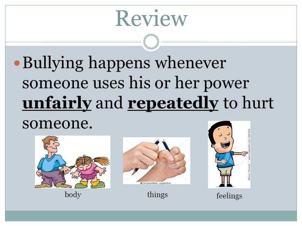 How do you feel when you see someone getting bullied?