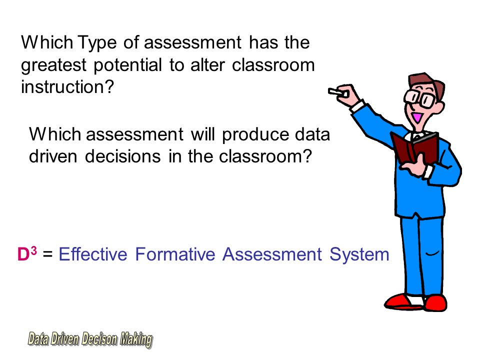 Which Type of assessment has the greatest potential to alter classroom instruction.