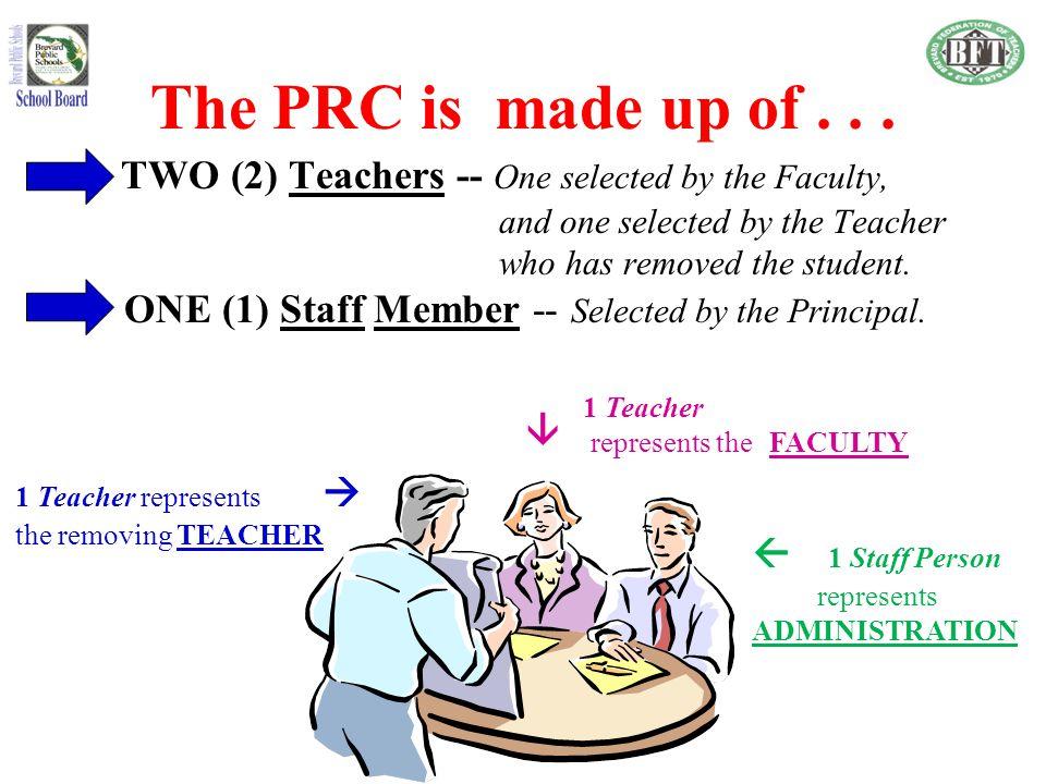 The PRC's purpose is..
