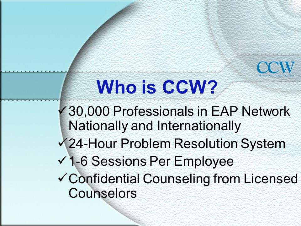 Who is CCW.