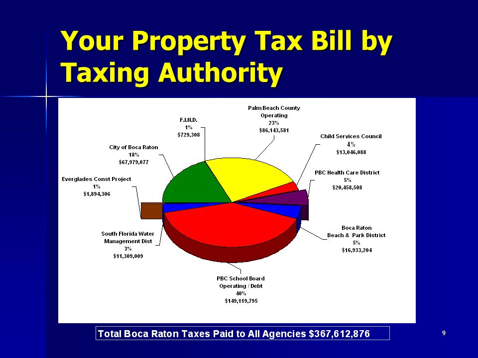 9 Your Property Tax Bill by Taxing Authority