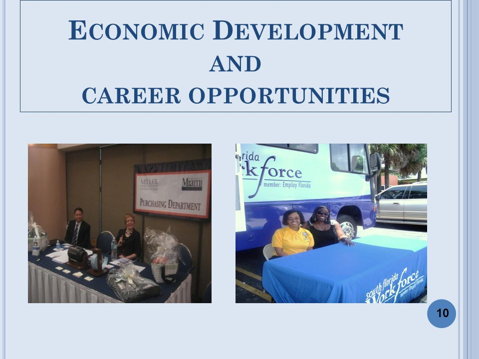 E CONOMIC D EVELOPMENT AND CAREER OPPORTUNITIES 10