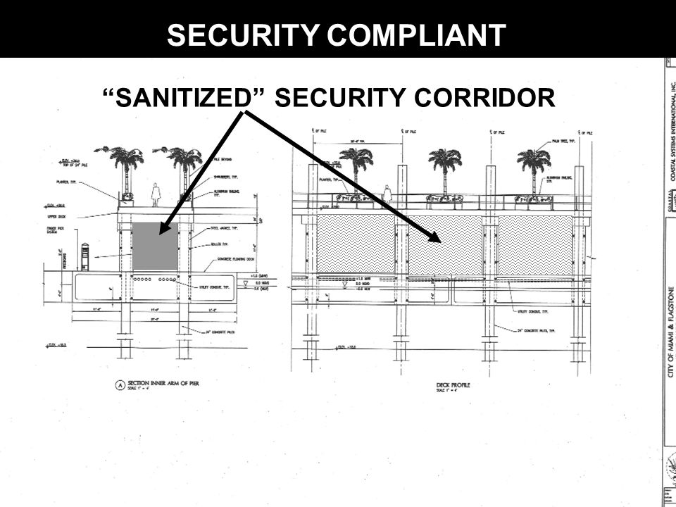 SANITIZED SECURITY CORRIDOR SECURITY COMPLIANT