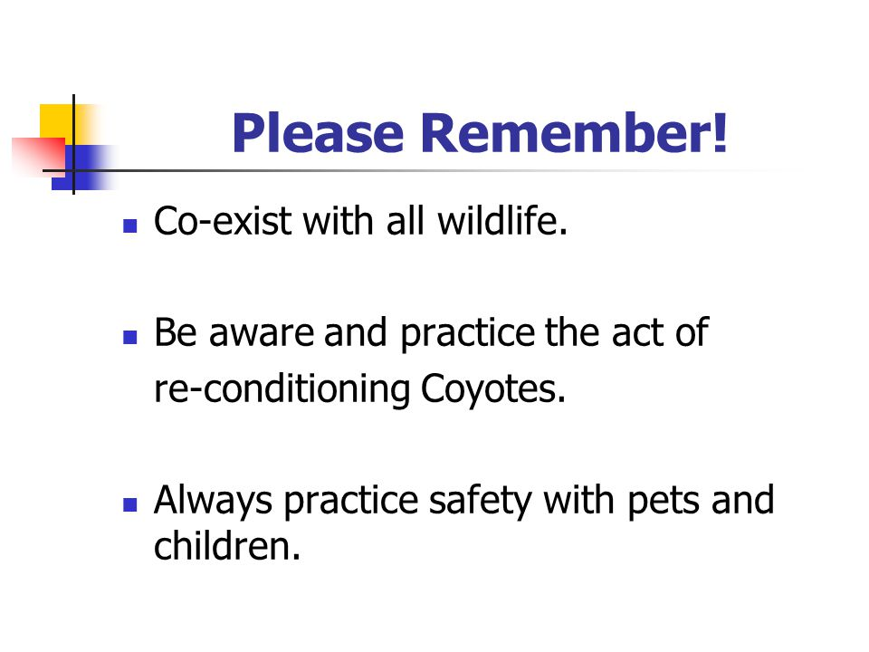 Please Remember. Co-exist with all wildlife.