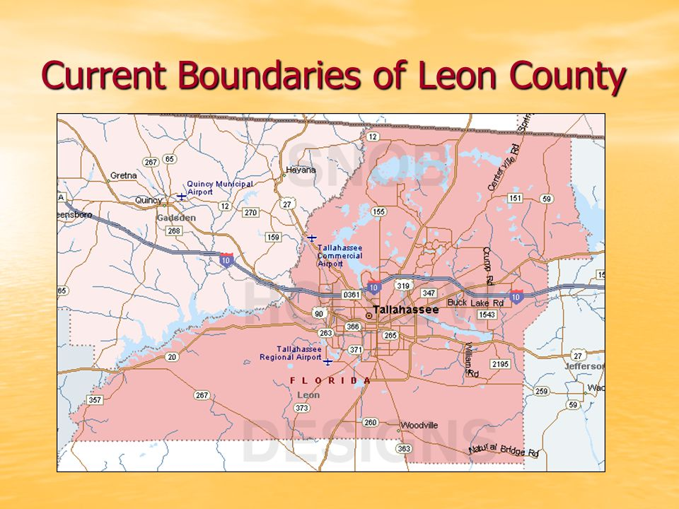 Current Boundaries of Leon County