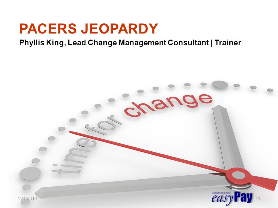 Phyllis King, Lead Change Management Consultant | Trainer 7/24/201325