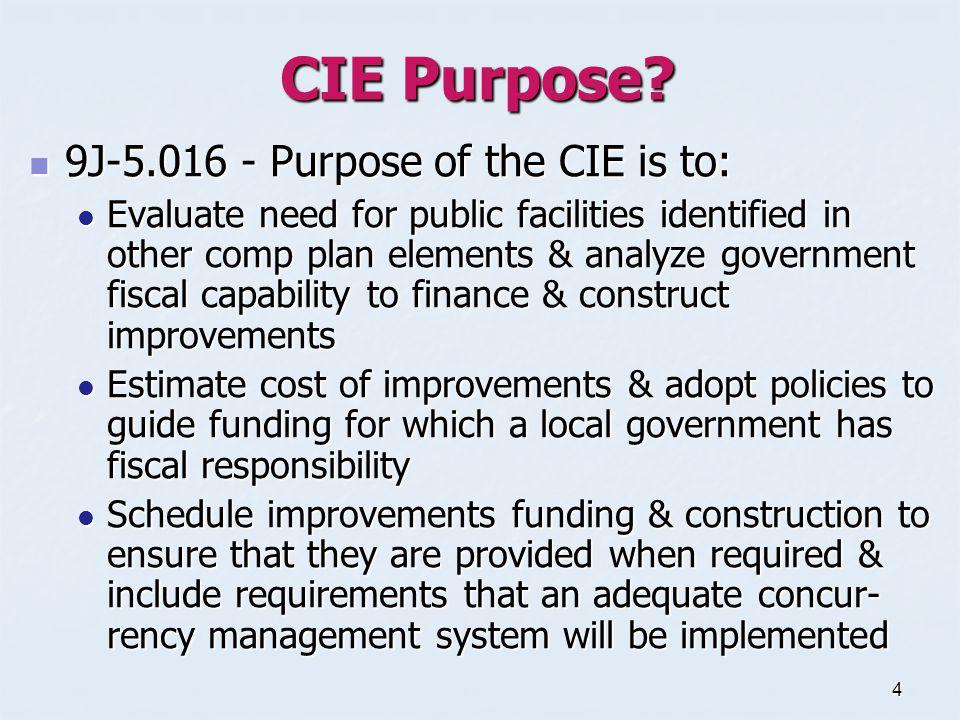 4 CIE Purpose.