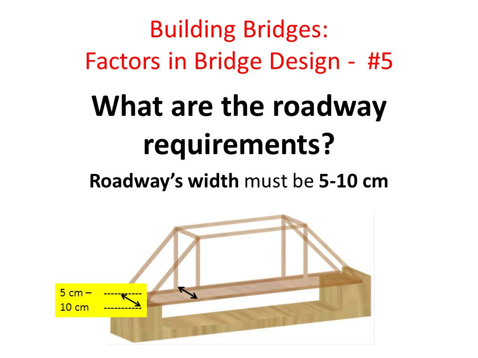 Building Bridges: Factors in Bridge Design - #5 What are the roadway requirements.