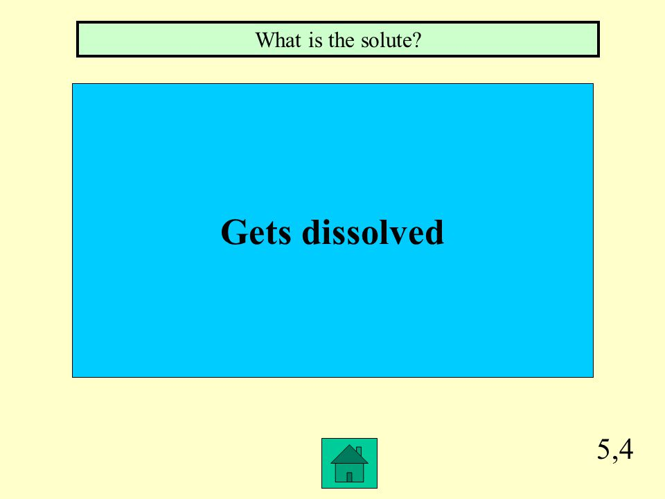 5,3 Does the dissolving What is the solvent