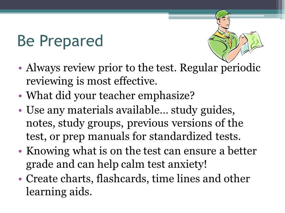 Additional References Study Skills ▫http://academictips.orghttp://academictips.org Test Anxiety & Study Skills ▫ http://ub-counseling.buffalo.edu/stressstudy.shtml http://ub-counseling.buffalo.edu/stressstudy.shtml TABE Test information ▫www.brevardcc.edu/vpi heading: vpi program resources\www.brevardcc.edu/vpi Test-Taking Skills ▫http://literacynet.org/lp/learn2learn/home.html