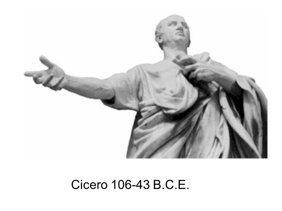Cicero 106-43 B.C.E.