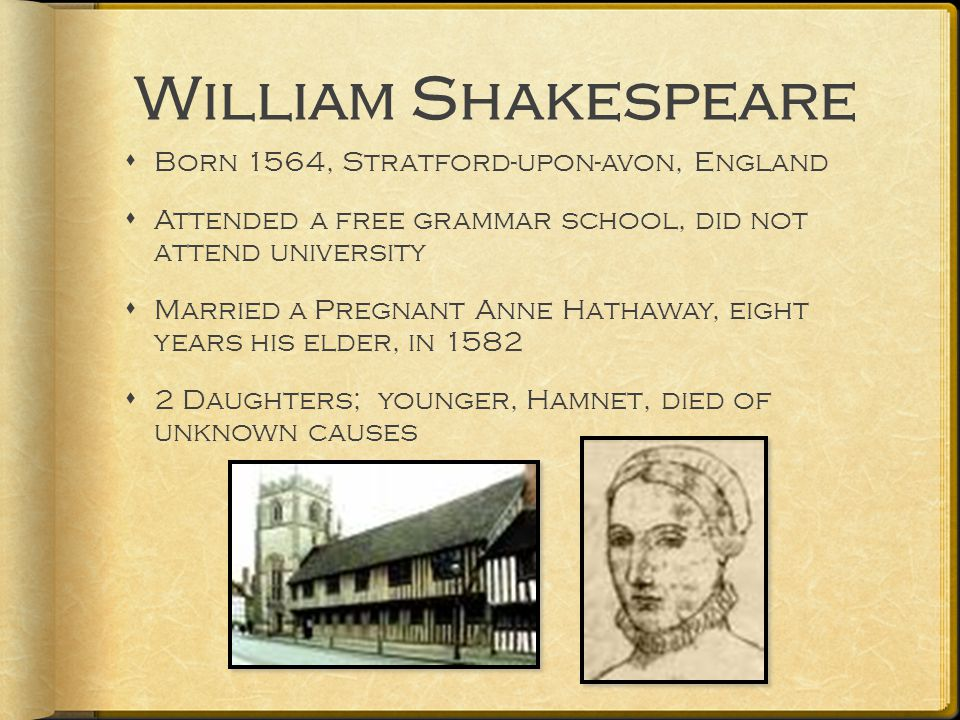 Shakespeare's theatre  Moved to London 1588  Became actor and playwright for Lord Chamberlain's Men theatre company  In 1599 became part owner of the Globe Theater  Queen Elizabeth I, queen of England, greatly enjoyed the theatre and Shakespeare's troupe would perform for her often.