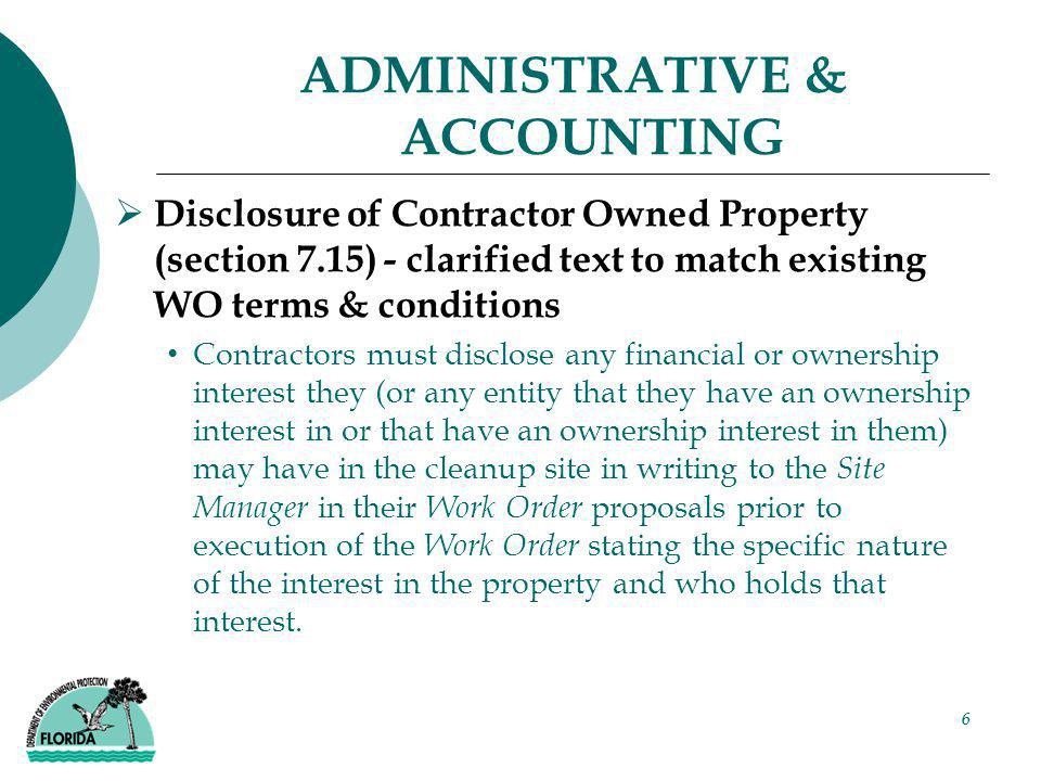7 ADMINISTRATIVE & ACCOUNTING  Invoicing Guidance (Section 6.7) Updated text and Invoice Checklist/Guidance in Appendix B.3 for latest F&A and DFS requirements Clarified that final invoices for PPA WOs do not have to wait for formal technical approval of final deliverable Removed notarization requirement from Contractor Release of Claim Noted the preapproval exemption to 1% MFMP transaction fee and added copy of MFMP exemption approval form in Appendix D.3 Added new example Irrevocable Assignment and Transfer of Account Receivable Form in Appendix B.3