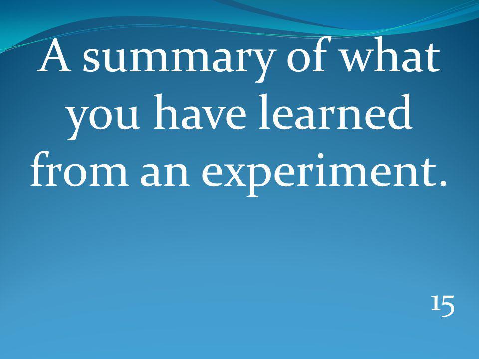 14 An experiment