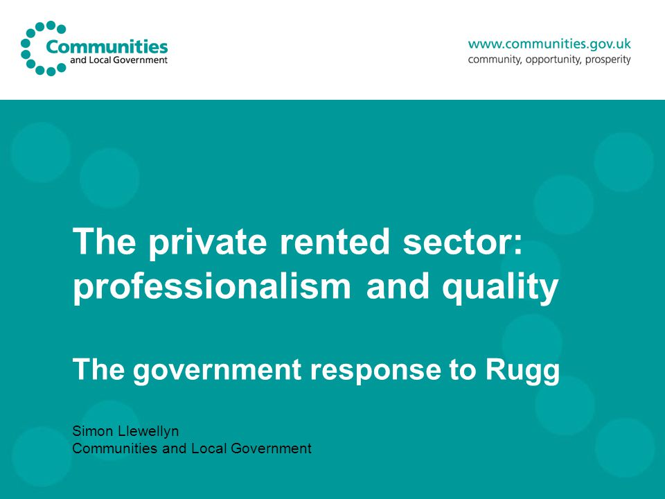 The government response to the Rugg Review Background facts and figures why a review now.