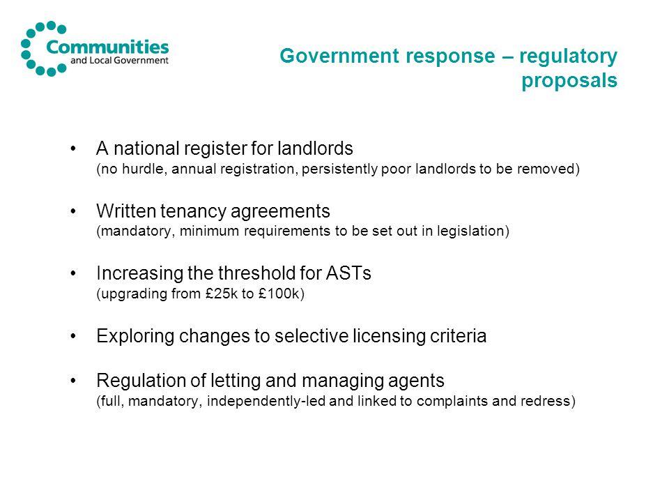 Scheme requirements and declaration