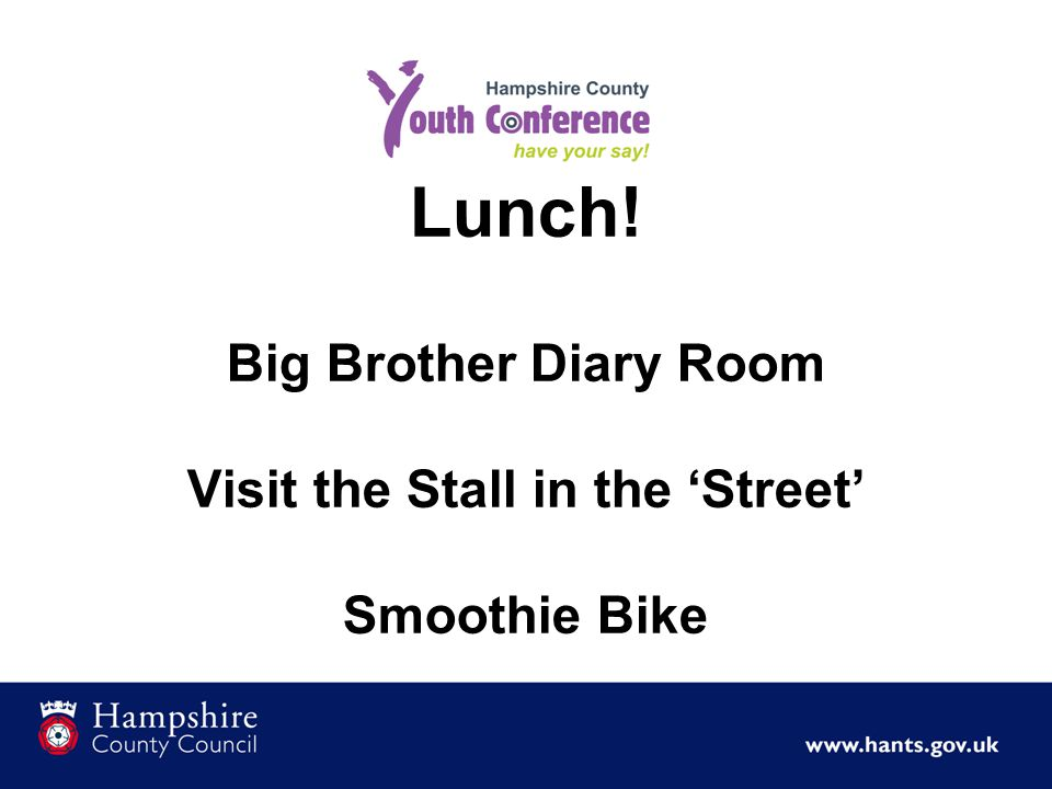 Lunch! Big Brother Diary Room Visit the Stall in the 'Street' Smoothie Bike