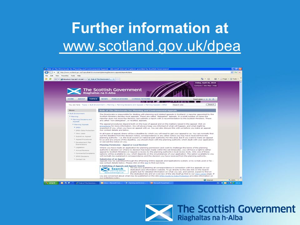 Further information at www.scotland.gov.uk/dpea