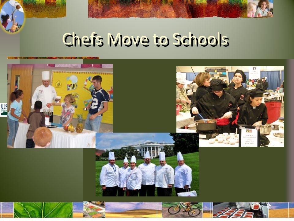 15 Chefs Move to Schools