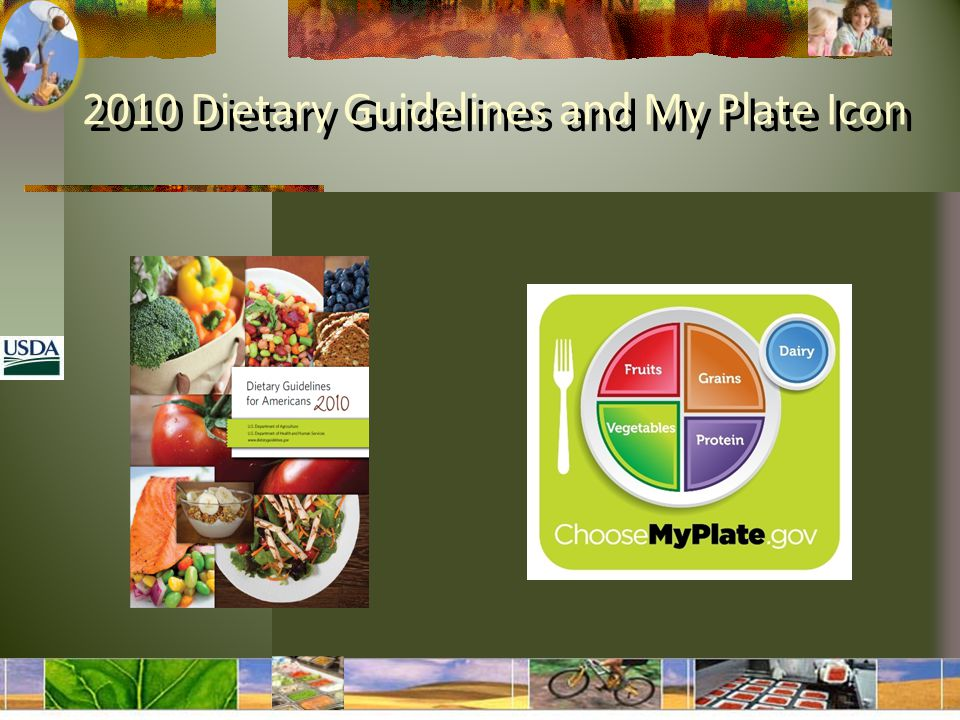 2010 Dietary Guidelines and My Plate Icon