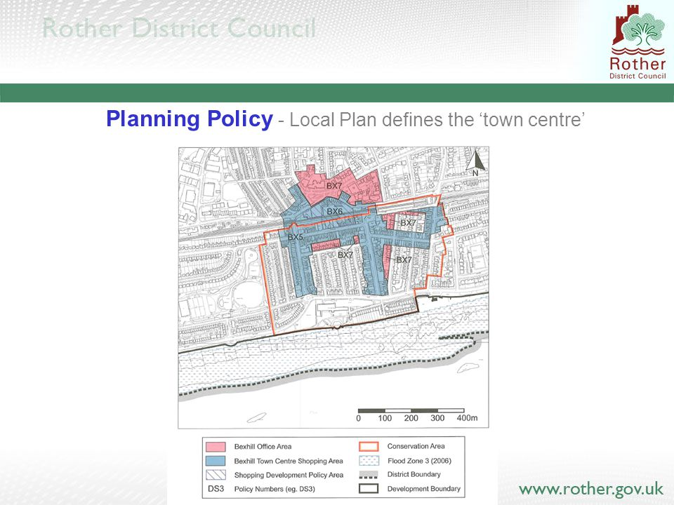 Planning Policy - Local Plan defines the 'town centre'