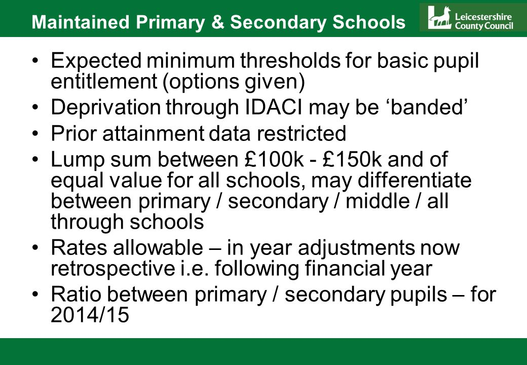 Challenges New ways of financial planning for special schools Understanding current costs – high cost pupils Establishing new commissioning framework for high cost pupil places Capacity and resources Communication Developing school understanding of change and its implications