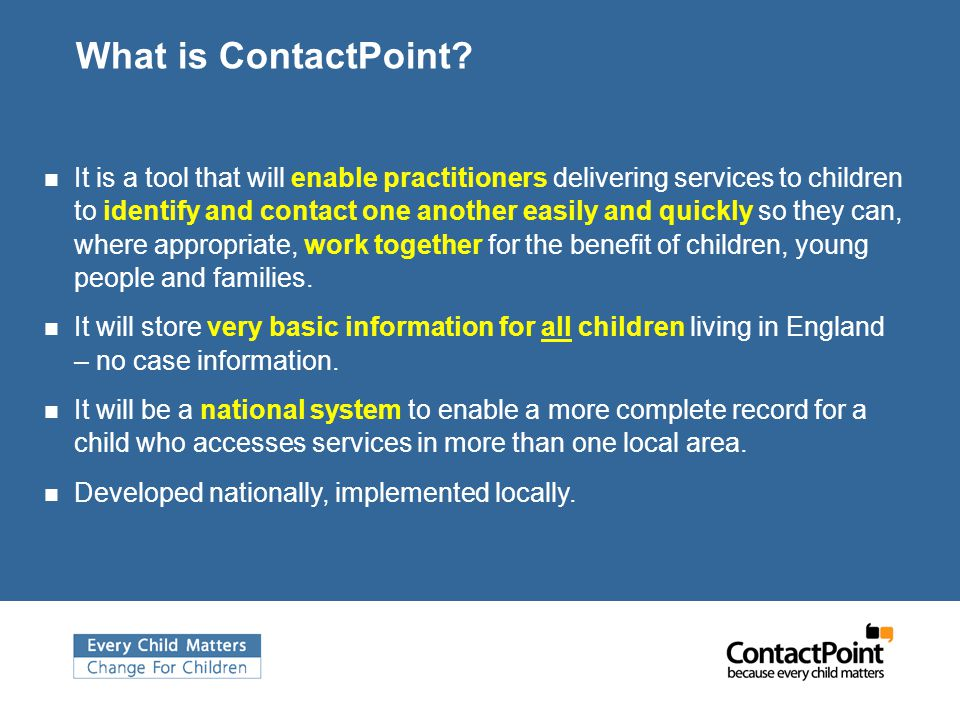 What is ContactPoint.