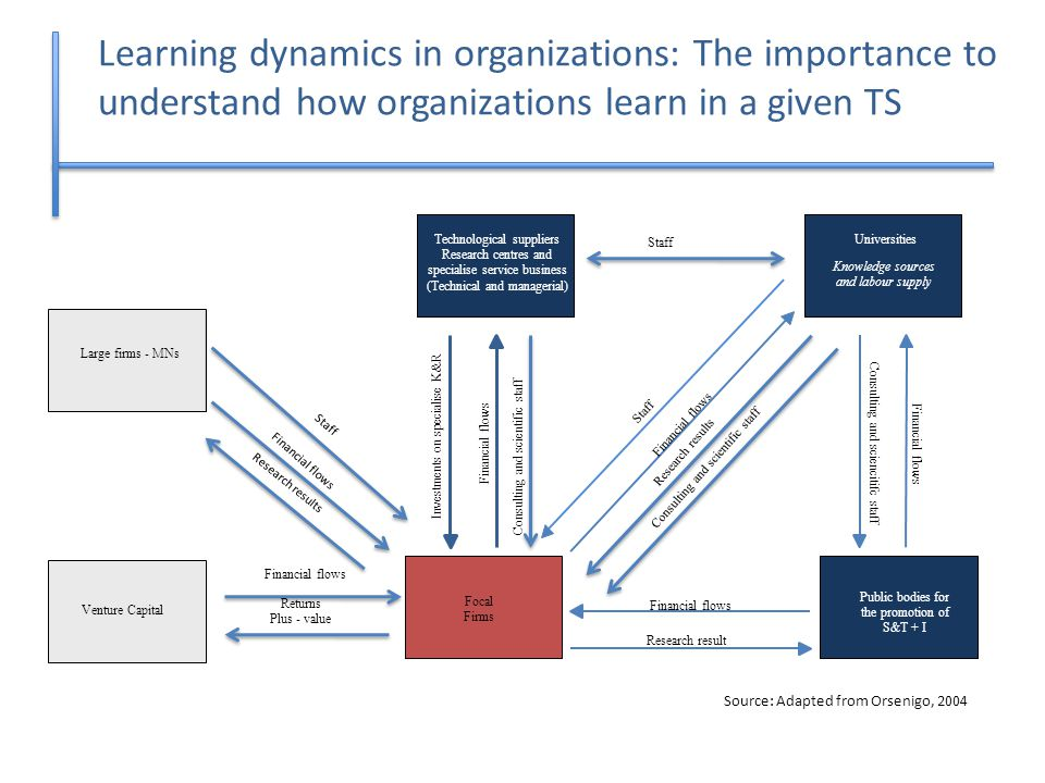 Learning dynamics in organizations: The importance to understand how organizations learn in a given TS Universities Knowledge sources and labour suppl