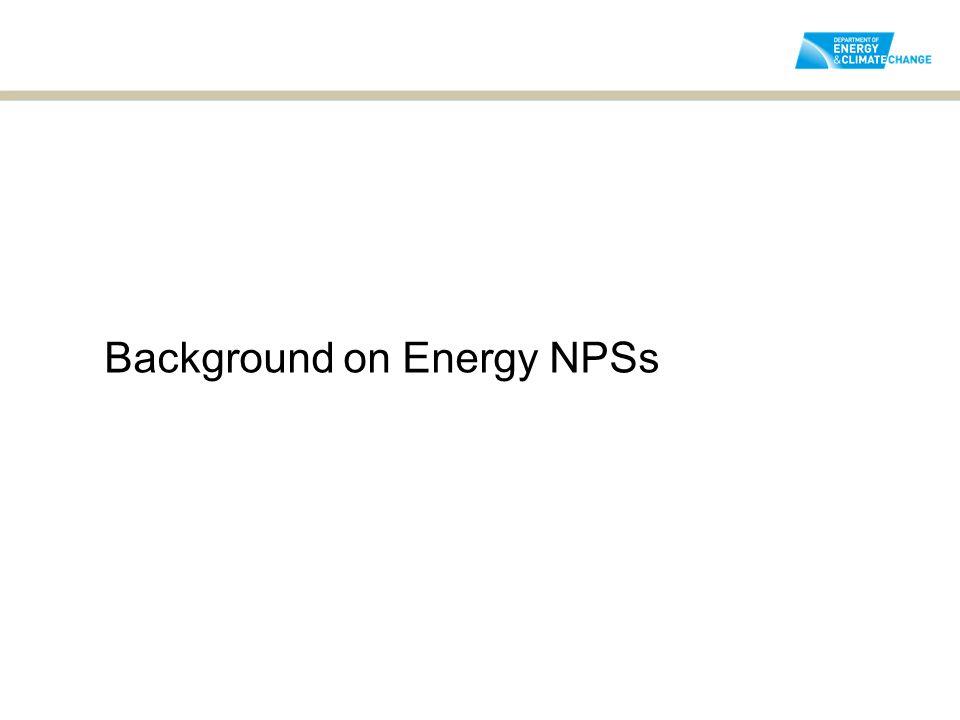 Background on Energy NPSs