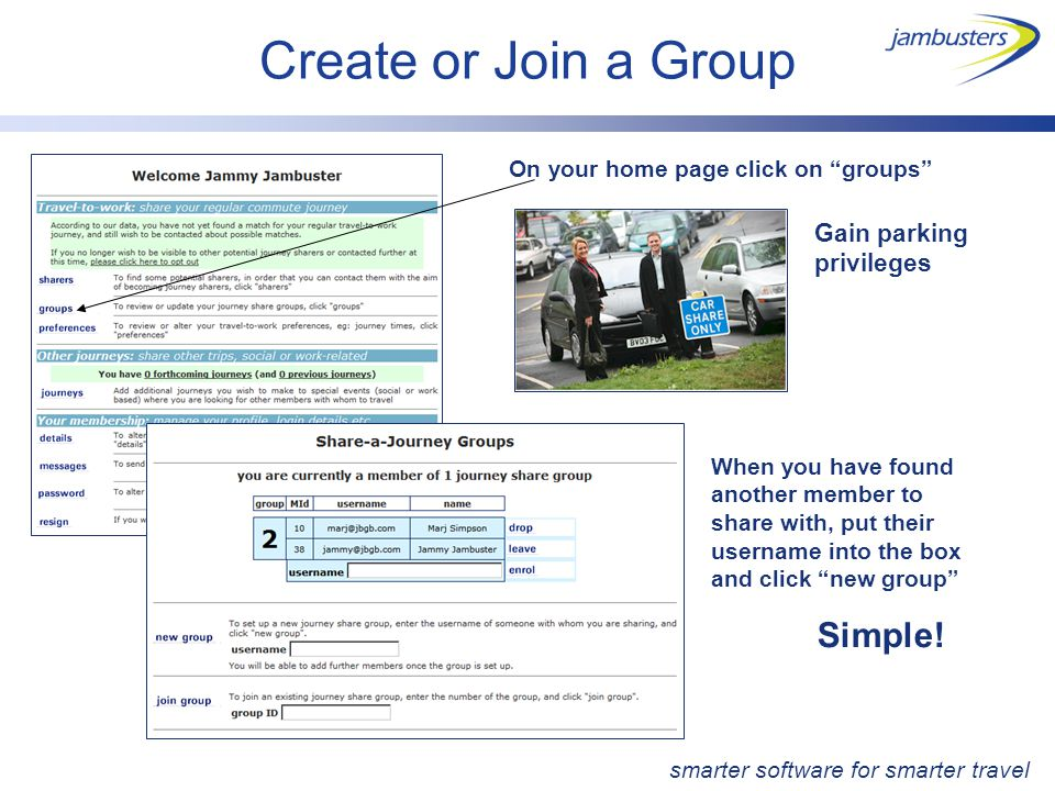"""Create or Join a Group On your home page click on """"groups"""" When you have found another member to share with, put their username into the box and click"""