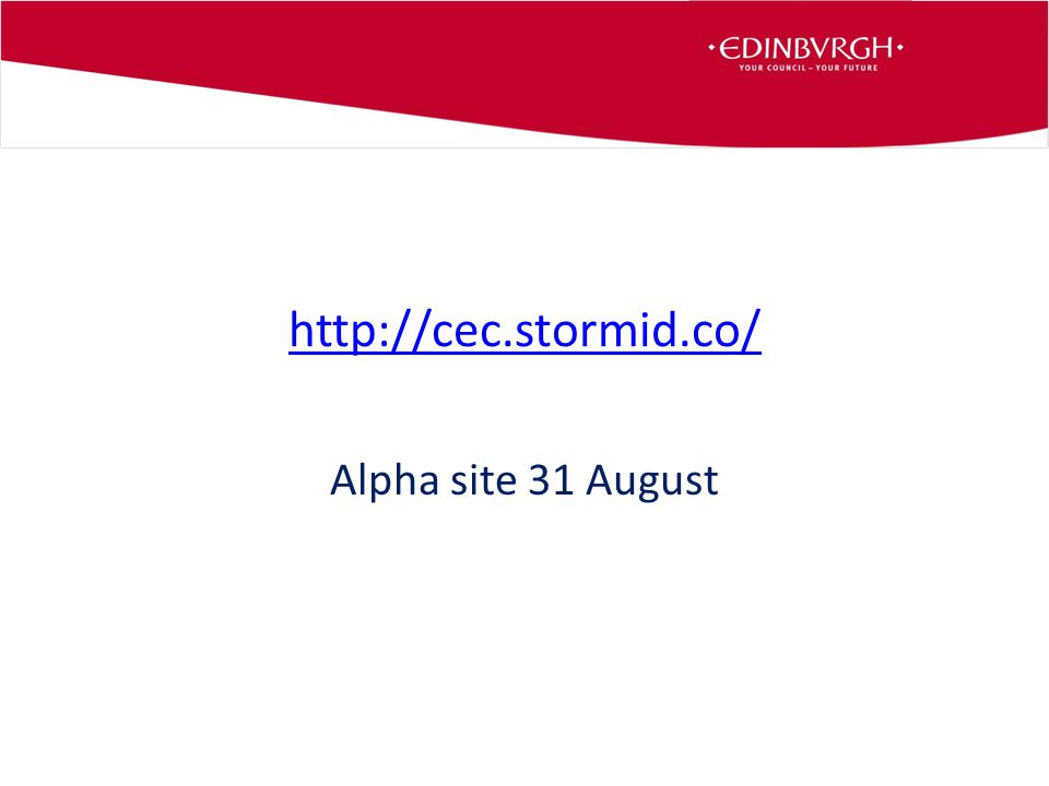 http://cec.stormid.co/ Alpha site 31 August