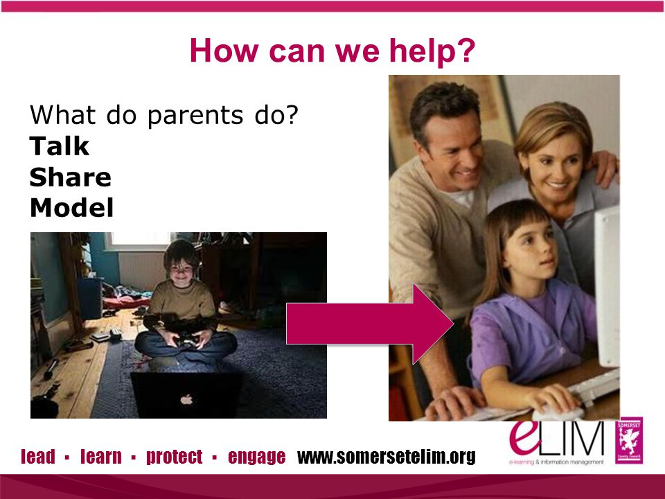 lead ▪ learn ▪ protect ▪ engage www.somersetelim.org What do parents do.