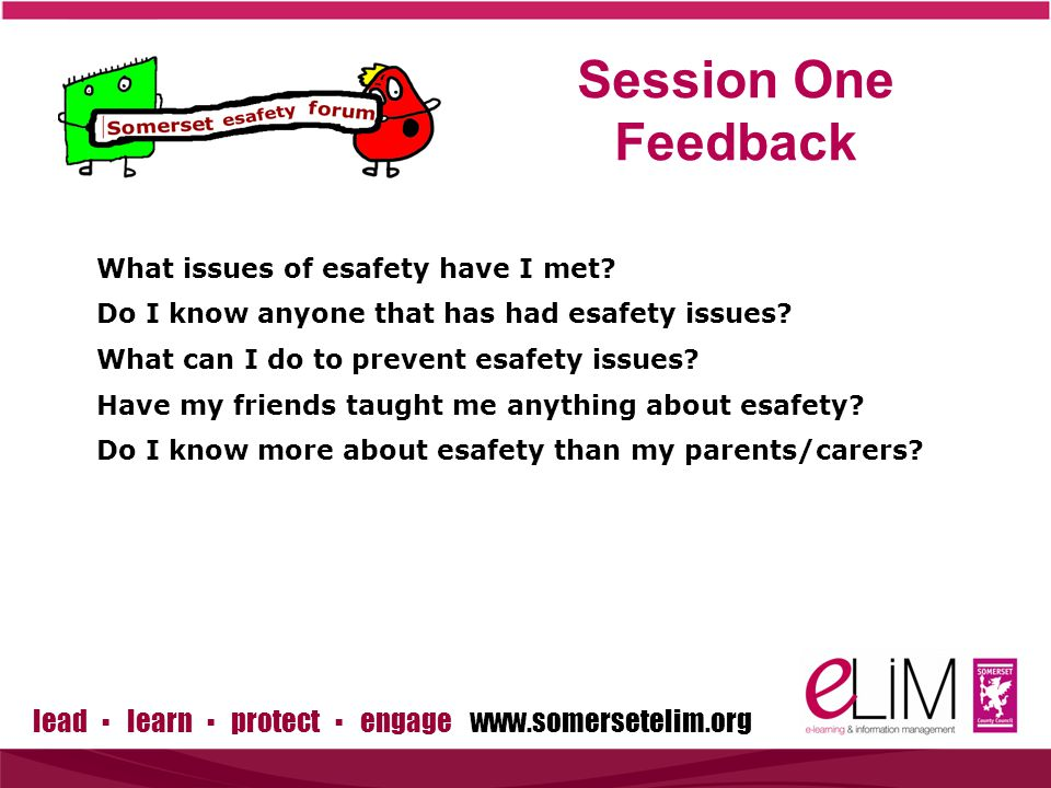 lead ▪ learn ▪ protect ▪ engage www.somersetelim.org Session 2 – What are the issues? Group Debates