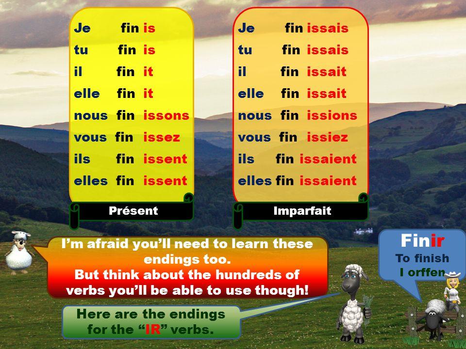 "Here are the remaining endings for the ""ER"" verbs. Je jou tu jou il jou elle jou nous jou vous jou ils jou elles jou Futur erai eras era erons erez er"
