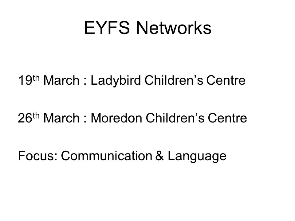 Training New Early Years Educator qualification From September 2014 Grade C minimum in English & Maths GCSE EYFS amendments