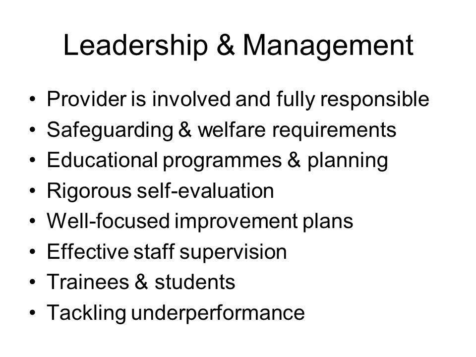 The Visit Meet Provider Talk with parents Tour Observations of practice Case track Leadership & management meeting Arrange feedback