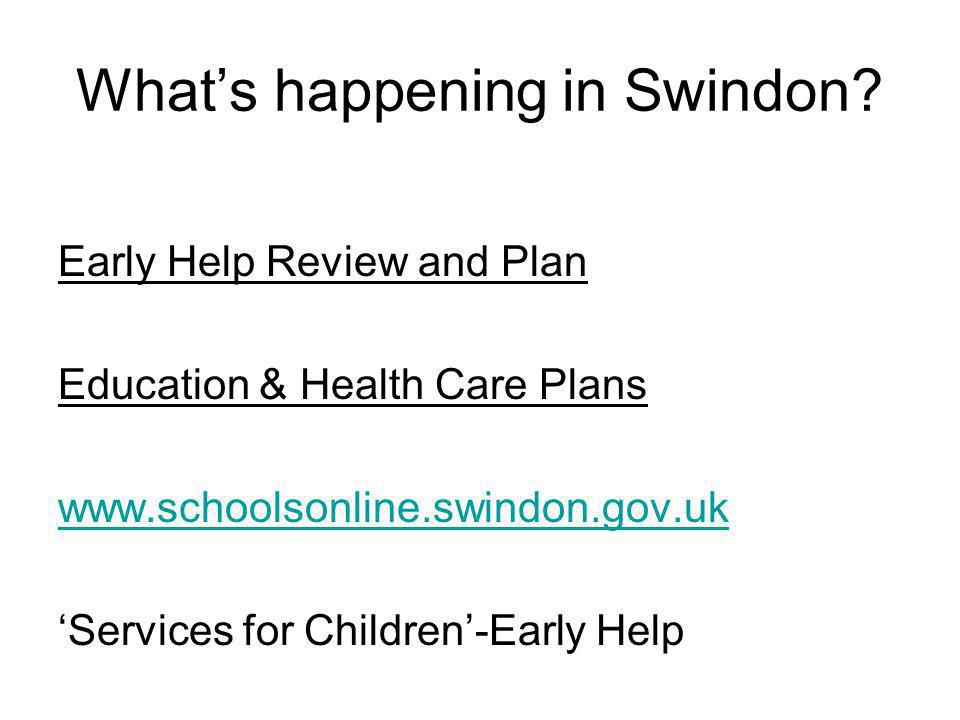 What's happening in Swindon.
