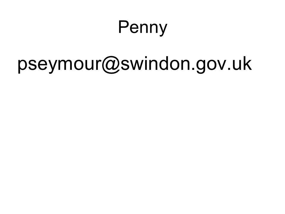 Penny pseymour@swindon.gov.uk