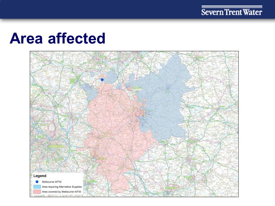 Area affected