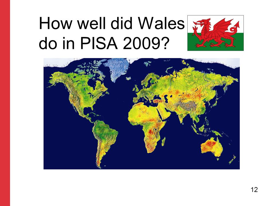 How well did Wales do in PISA 2009? 12