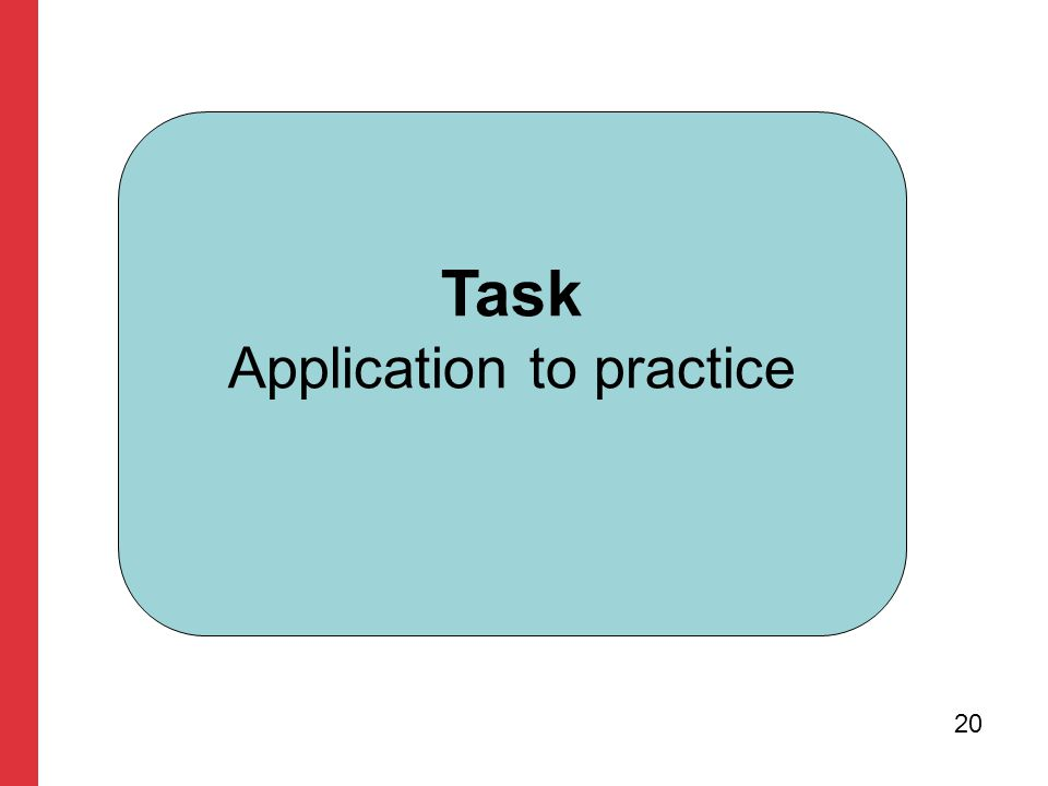 Task Application to practice 20