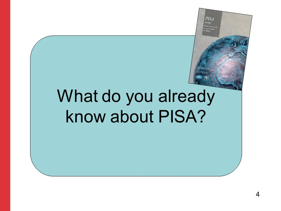 Quiz Question 1 What does the acronym PISA stand for.