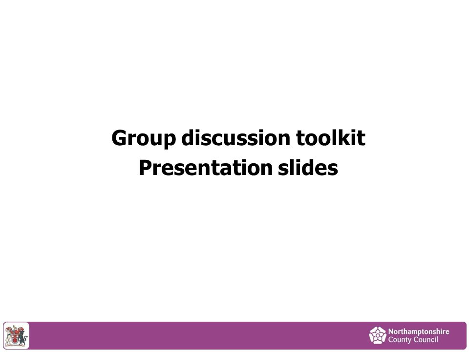 Group discussion toolkit Presentation slides